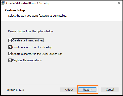 VirtualBox Installation
