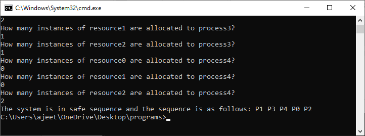 Banker's Algorithm Java
