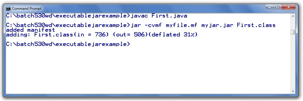 creating executable jar