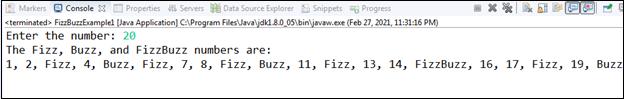 FizzBuzz Program in Java