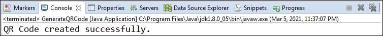 Generating QR Code in Java