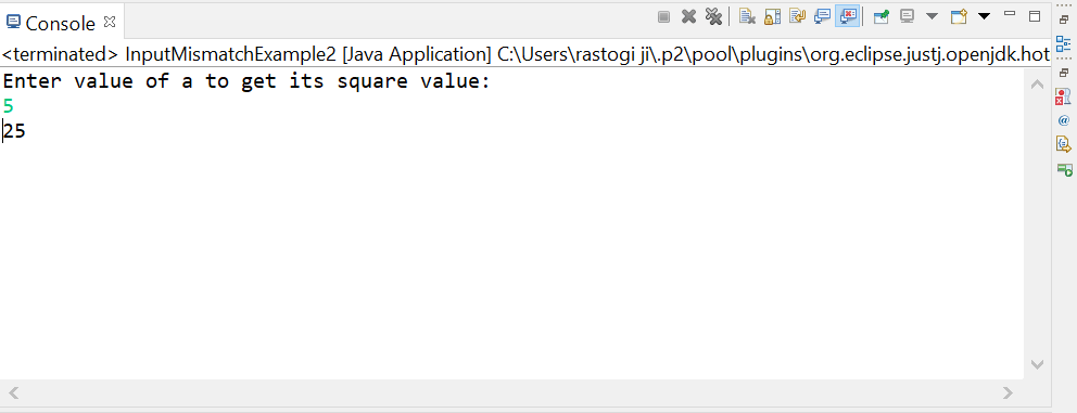 InputMismatchException in Java