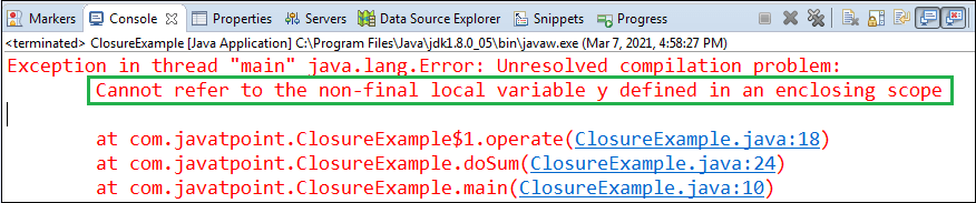 Java Closure