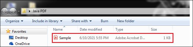 Java Create PDF