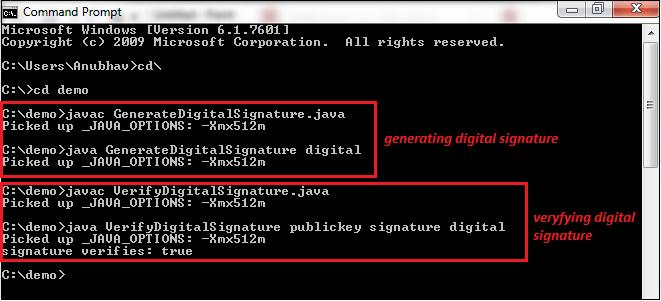 Java Digital Signature