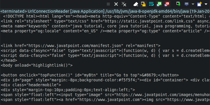 Java Get Data From URL