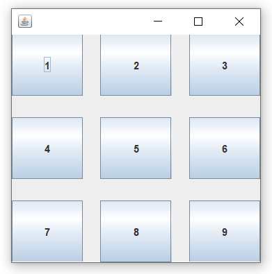 Java GridLayout
