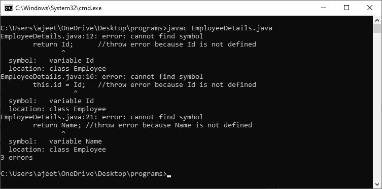 Java is case sensitive explain