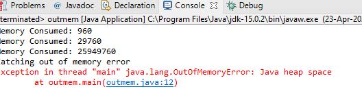Java.lang.outofmemoryerror: java heap space