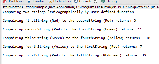 Lexicographical Order Java