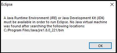 No Java Virtual Machine was Found