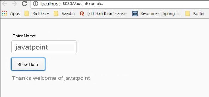 Vaadin Framework Java