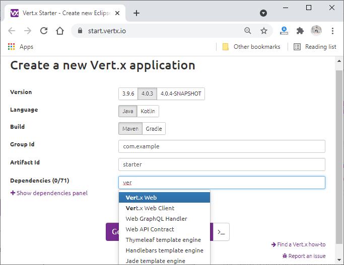 Vert.x Java