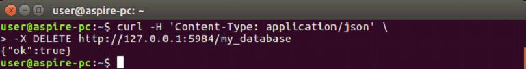 CouchDB Delete database 1