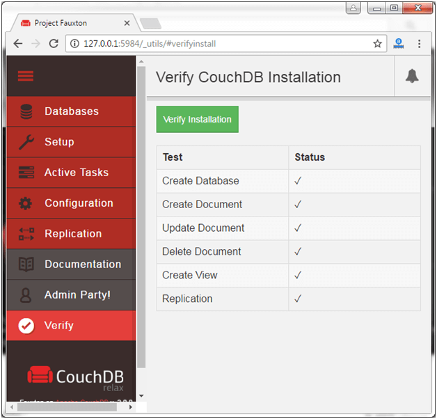 CouchDB Installation 14