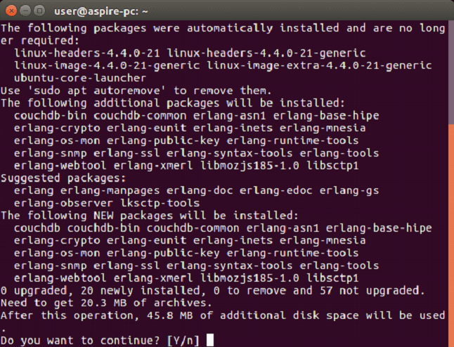 CouchDB Install CouchDB on Linux 2