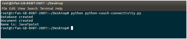 CouchDB Phython couchdb connectivity 5