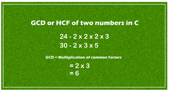 GCD of two numbers in C