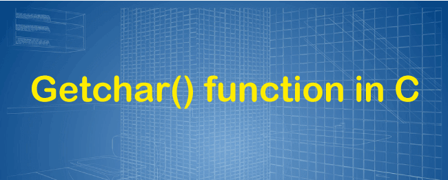 Getchar() function in C