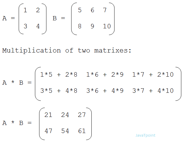 Matrix multiplication in C - javatpoint