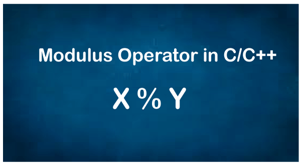 Modulus Operator in C/C++