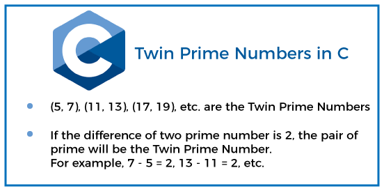Twin Prime Numbers in C