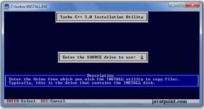 Turbo C++ - Download and Installation - javatpoint