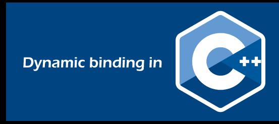 Dynamic binding in C++