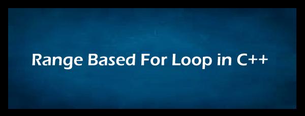 Range-based for loop in C++