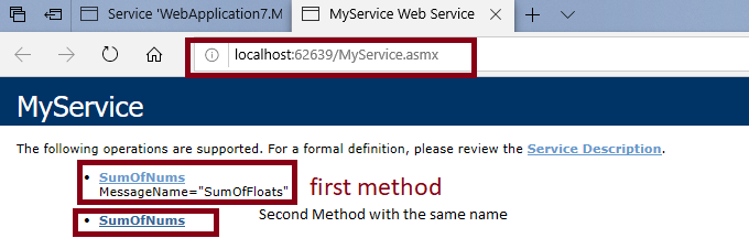 How to create Web Service