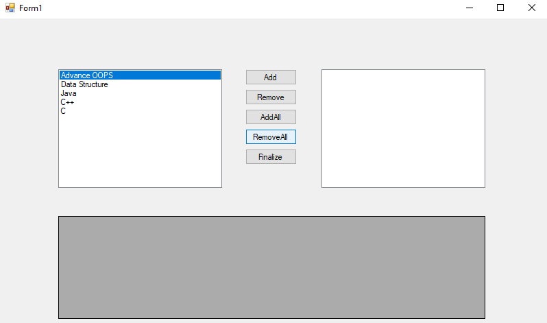 ListBox Control in C#
