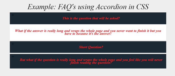 Accordion CSS