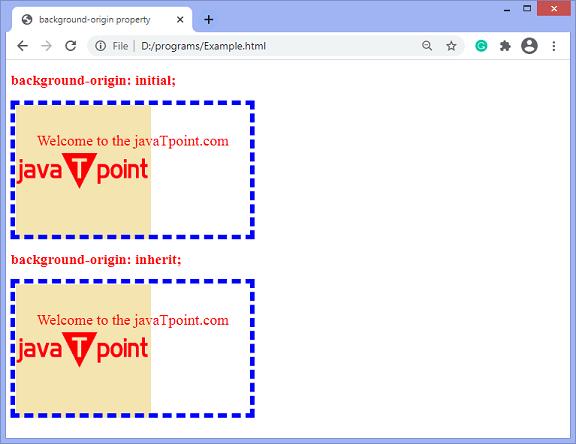 CSS background-origin property