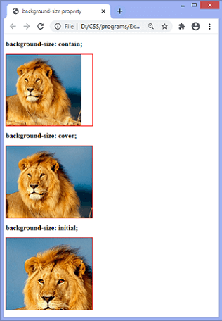 CSS background-size property