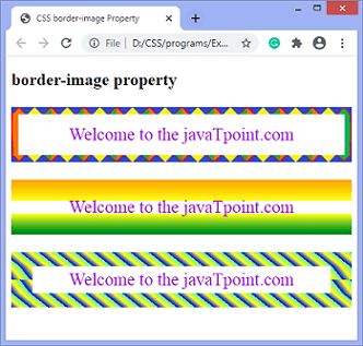 CSS border-image property