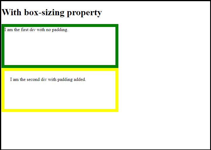 CSS Box Sizing