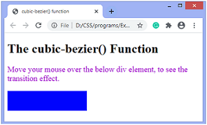 CSS cubic-bezier() function