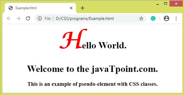 CSS Pseudo-elements