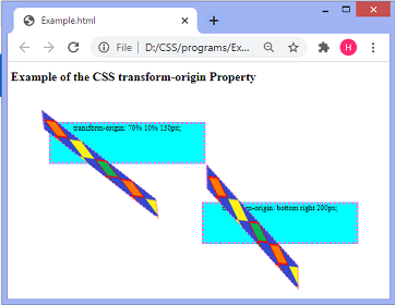 CSS transform-origin property