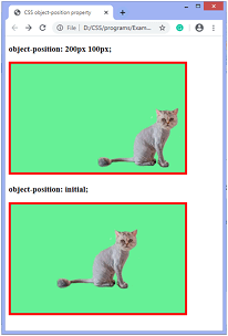 How to position an image in CSS