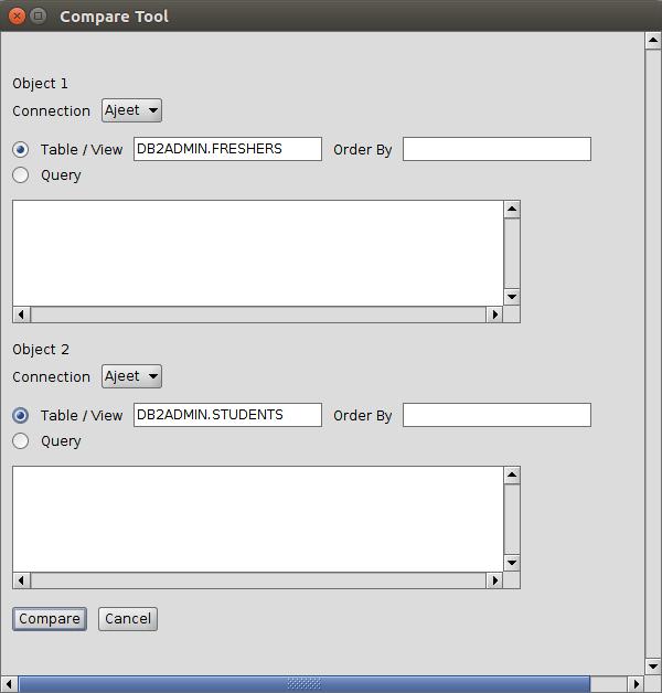 DB2 Compare tool