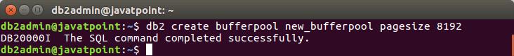 Create a Bufferpool