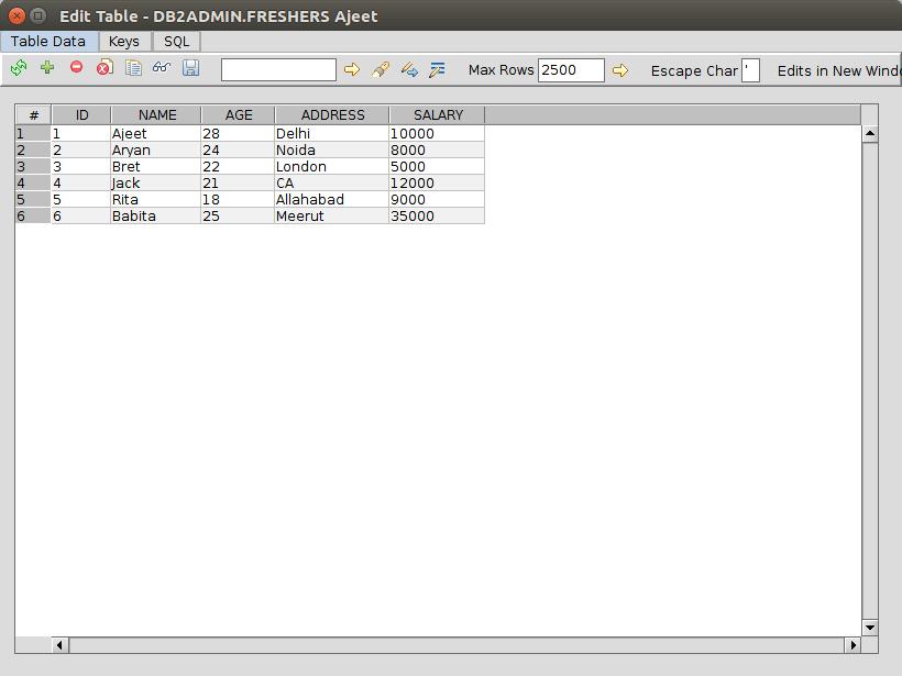 DB2 querybuilder10