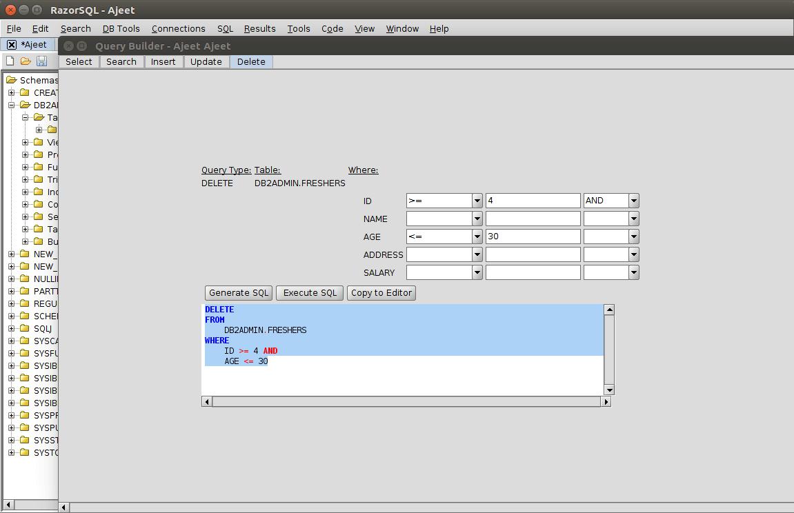 DB2 querybuilder13