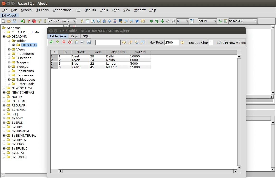 DB2 querybuilder14