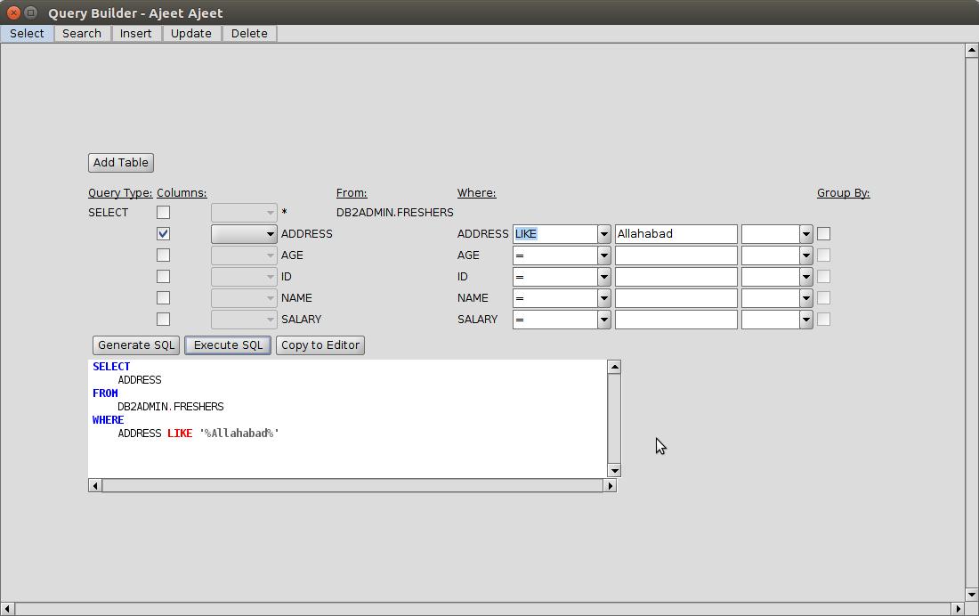 DB2 querybuilder5