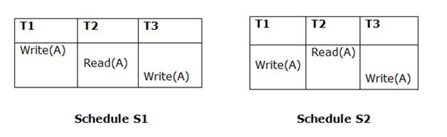 DBMS View Serializability