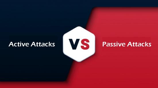 Active attack vs Passive attack