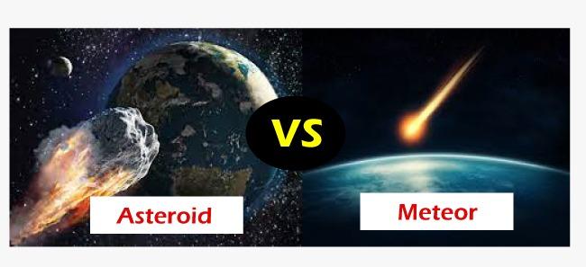 Asteroid vs Meteor