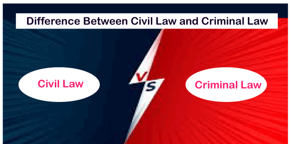 Difference between Civil Law and Criminal Law